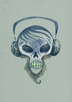 Deadbeat - pencil art Pencil Art, Pencil Drawings, Deadbeat, Skull, Paintings, Tattoos, Color, Tatuajes, Paint