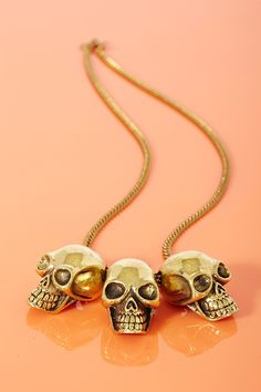 .Triple Skull Necklace...Anyone who knows me knows that i LOVE skulls!.