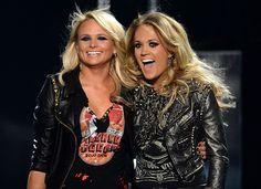 Miranda Lambert e Carrie Underwood (Foto: Getty Images)