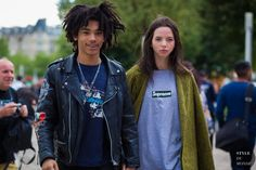 Luka Sabbat and Adriana Mora Street Style Street Fashion Streetsnaps by STYLEDUMONDE Street Style Fashion Photography