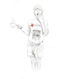 El hombre cafetera. JAVIER RUBIN GRASSA
