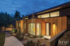 Inside One Couple's Hillside Portland Home Architect Design, House Tours, Modern Architecture, Luxury Homes, Entrance, Outdoor Decor, Outdoor Landscaping, Exterior, House Design