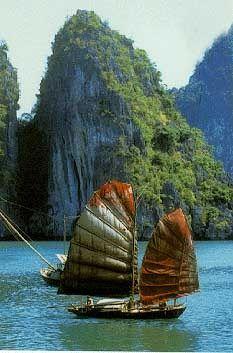 Baie d'Halong, dans le golfe du Tonkin, la province de Quang Ninh, Vietnam