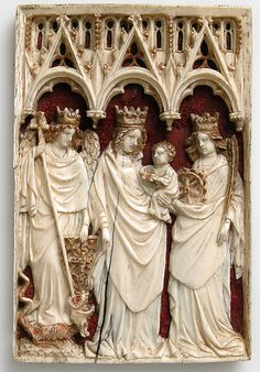 Plaque with Virgin and Child and Saints