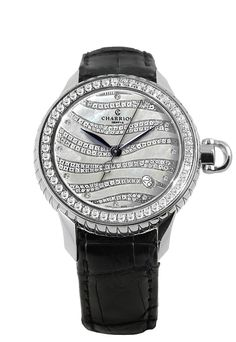 Women's Columbus Diamond Bezel Watch - ctw by Charriol on Philippe Charriol, Waves, Automatic Watch, Watches For Men, Women's Watches, Black Leather, Lady, Accessories, Steel