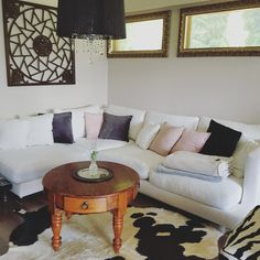 Summer is here! Summer Is Here, Small Changes, My Living Room, Pillow Cases, Couch, Interior Design, Inspiration, Furniture, Home Decor