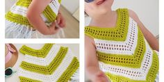 Little Girl Summer Top - Free Pattern (Beautiful Skills - Crochet Knitting Quilting) Crochet Toddler, Crochet Girls, Crochet Baby Clothes, Crochet For Kids, Crochet Summer Tops, Crochet Top, Crochet Vests, Top Pattern, Free Pattern