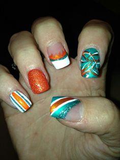 Miami Dolphins nails