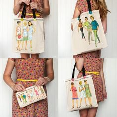 Vintage Sewing Patterns Tote Bag for $24.99 from The TomKat Studio Party Shop