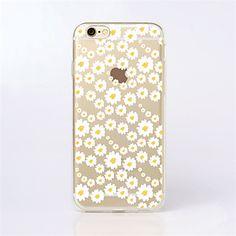 voor+de+iPhone+7+maycari®sea+van+witte+bloemen+transparante+TPU+achterkant+van+de+behuizing+voor+de+iPhone+6s+6+plus+–+EUR+€+3.91