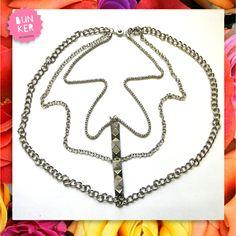 Coleccion Love me <3 Collar cadenas y tachas <3