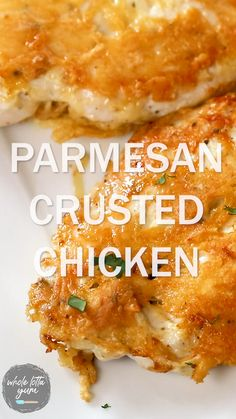 Gluten Free Recipes, Low Carb Recipes, Real Food Recipes, Cooking Recipes, Fish And Chicken, Keto Chicken, Chicken Recipes, Parmesan Crusted Chicken, Fruit Salad Recipes
