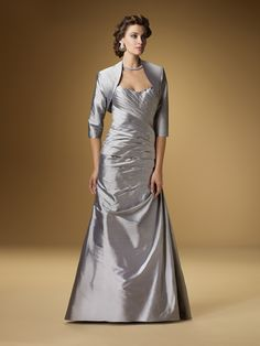 A-line Sweetheart Floor-length Taffeta Mother of the Bride Dress #USAFF374
