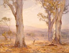 The Pomp of Parting Day by Hans Heysen