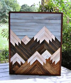 Handmade reclaimed wood art featuring a multiple mountain design. Several pieces of wood are connected together to create a scenic design. All of our wood is rescued and re-purposed from Central Pa and surrounding areas to create a truly unique piece of art. Every piece of wood is #woodcraftplans