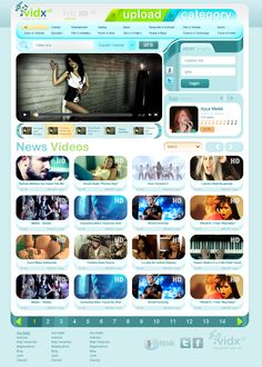 Free Video Site PSD Template