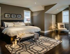 Brown and Neutral Bedroom
