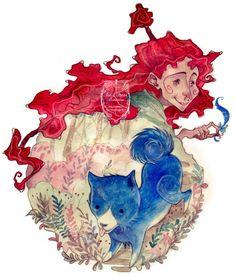 çizgili masallar: Katschawatscha and the Blue Puppy by Anja Uhren
