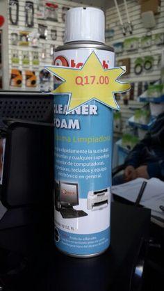 Espuma para limpieza externa de equipos electrónicos No raya ni daña las superficies