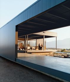 Leo Marmol of Marmol Radziner will be talking on the panel Prefab Goes Big on Friday. Here's his own prefab vacation house in the Coachella Valley from our story Desert Utopia.