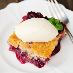 Simple and fruity - huckleberry buckle (or any fruit buckle) is the perfect way to celebrate summer's fruits.