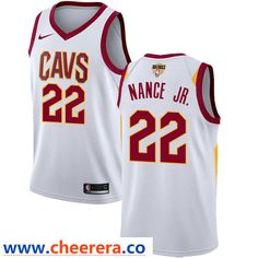 2304ff464c0b Nike Cavaliers Jae Crowder White The Finals Patch NBA Swingman Association  Edition Jersey