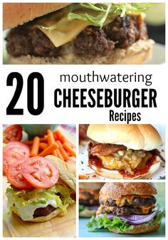 20 Mouthwatering Cheeseburger Recipes - Hungry? These 20 Mouthwatering Cheeseburger Recipes will have you begging for more! They're SO good and super easy to make!