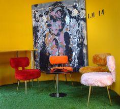 """Chaises """"moumoute"""" - Becbunzen mobilier vintage & industriel"""