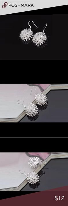 "Sterling Silver Spray Earrings! Beautiful Beautiful! Sterling Silver Earrings are a unique spray design. They measure 3/4"" wide in diameter. Ear wires are Sterling Silver. Free surprise jewelry gift with your purchase! Jewelry Earrings"