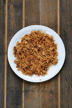 Pâte à crumble sucrée : base et variantes