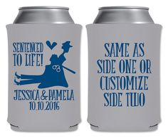 Same Sex Cop Wedding Coolers Personalized Gay Wedding/Policewoman Wedding Favors… The Office Wedding, Police Wedding, Lesbian Wedding, Wedding Humor, Wedding Tips, Dream Wedding, Wedding Stuff, Wedding Koozies, Personalized Wedding Favors