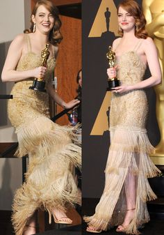 Emma wore a custom haute couture Givenchy dress that reportedly took 1,700 hours to make