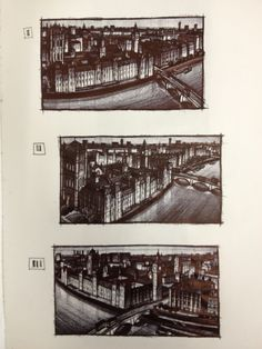 Westminster, London commission  Sketches (biro)  - Jim Edwards