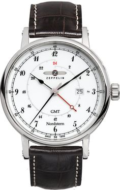 Zeppelin Watch Nordstern #bezel-fixed #bracelet-strap-leather #brand-zeppelin #case-material-steel #case-width-41mm #classic #date-yes #delivery-timescale-call-us #dial-colour-white #gender-mens #gmt-yes #movement-quartz-battery #official-stockist-for-zeppelin-watches #packaging-zeppelin-watch-packaging #style-dress #subcat-nordstern #supplier-model-no-7546-1 #warranty-zeppelin-official-2-year-guarantee #water-resistant-50m