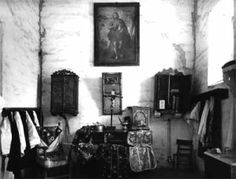 Sacristy at Mission San Juan Bautista California 1897 Founded on this day in 1797 by the Franciscans in honour of St John the Baptist, Mission San Juan Bautista is a Spanish mission in the city of San Juan Bautista, California.  Pictured below is the Mission sacristy in 1897.