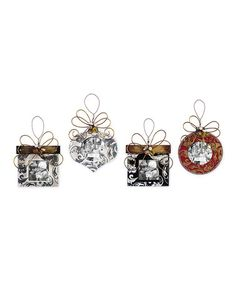 Take a look at this Christmas Picture Frame Ornament Set by Sunset Vista Design Co., Inc. on #zulily today!