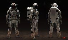 futuristic space suit design