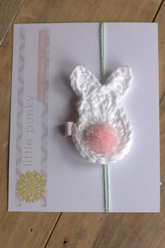 Crochet Bunny Hair clip on etsy great Easter bow inspiration.