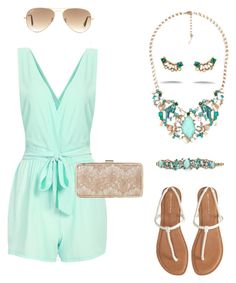 """Love the Aquamarina set by Chloe and Isabel!"" by nmshorey on Polyvore featuring Aéropostale, Chloe + Isabel, Ray-Ban and L.K.Bennett"