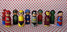 Super Hero peg dolls (via A girl and a glue gun):