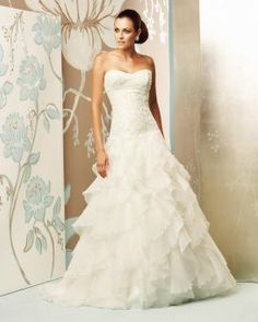 Paloma Blanca Classics Collection Style 4155. Love how airy it looks