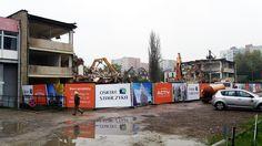 Trwają prace wyburzeniowe starych budynków pod Osiedle Stańczyka.