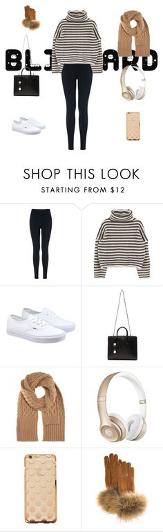 """""""Baby it's cold outside"""" by x-georgie-x ❤ liked on Polyvore featuring Miss Selfridge, Vans, Yves Saint Laurent, Maison Margiela, Beats by Dr. Dre and FRR"""