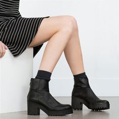 Image 2 of HIGH HEEL LEATHER ANKLE BOOTS WITH TRACK SOLE from Zara http://www.zara.com/us/en/woman/shoes/view-all/high-heel-leather-ankle-boots-with-track-sole-c734142p3212081.html