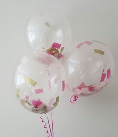 16 Clear Balloons with Thick Confetti inside by ThePartyPostman