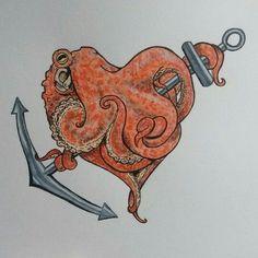 anchor heart … – tattoos for women small Anker Tattoo, Octopus Anchor Tattoos, Tattoo Anchor, Tattoos For Women Small, Small Tattoos, Octopus Hearts, Heart Tattoo Ankle, Heaven Tattoos, Anchor Heart