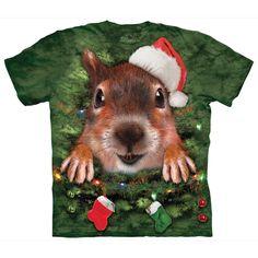 Xmas Tree Squirrel Unisex T-Shirt // Christmas 2016 at the Owl Barn