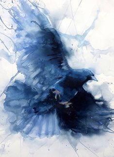 Descent by Sarah Yeoman Watercolor ~ x 22i #watercolor jd