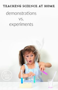 Why both science demonstrations and experiment are important when introducing fun science activities to kids.  #sciencedemonstrations #scienceexperiments #scienceathome #scientificmethod #funscience #sciencekids Preschool Science Activities, Science Curriculum, Kindergarten Science, Science Education, Teaching Science, Summer Science, Science For Kids, Science Fun, Science Ideas