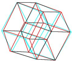 Construction of the hyper cube (tesseract). I want to do science, math and tech tattoos on my left leg and this design is a strong contender.